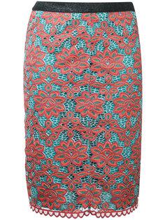 юбка с цветочным верхним слоем Sonia By Sonia Rykiel