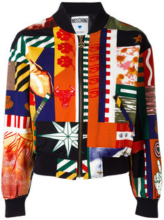 patchwork print bomber Moschino Vintage