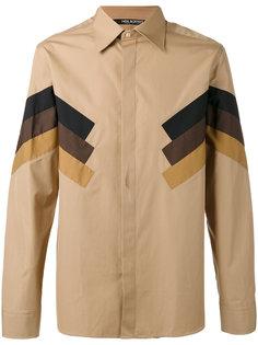 рубашка с полосатыми панелями Neil Barrett