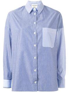полосатая рубашка с нагрудным карманом Erika Cavallini