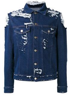 джинсовая куртка с рваными деталями Golden Goose Deluxe Brand