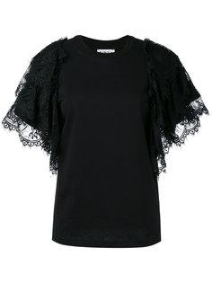 футболка с оборками на рукавах Ainea
