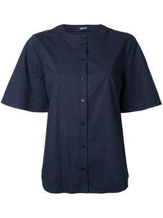 рубашка на пуговицах без воротника  Jil Sander Navy