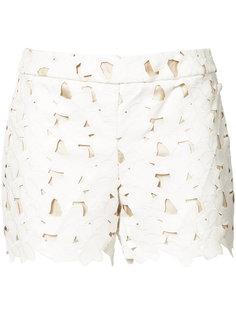 laser cut flower shorts  Alice+Olivia