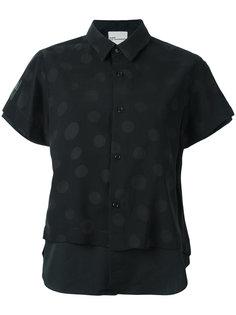 двухслойная блузка с принтом в горох Comme Des Garçons Noir Kei Ninomiya