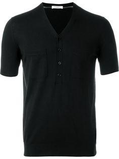 футболка с пуговичной застежкой Paolo Pecora