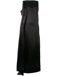 атласное асимметричное платье  Ann Demeulemeester
