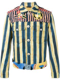 полосатая джинсовая куртка John Booth Fendi