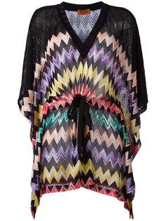 блузка с принтом зигзаг и шнурком Missoni
