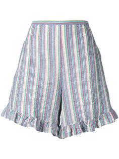 полосатые шорты с оборками See By Chloé