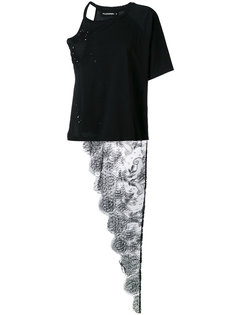 кружевная футболка с потертостями Penny Filles A Papa