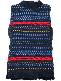 knitted tank top Sea