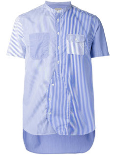 striped shortsleeved shirt  Wooster + Lardini