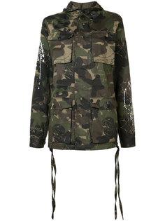 камуфляжное пальто с капюшоном Haculla