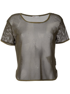 полупрозрачная сетчатая футболка Moncler