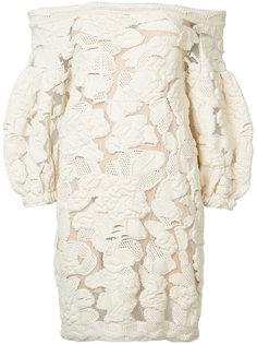 guipure puff sleeve mini dress Sonia Rykiel