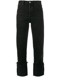 джинсы прямого кроя с отворотами Re/Done