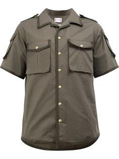рубашка с накладными карманами Moncler Gamme Bleu