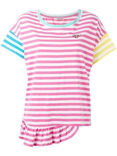 полосатая футболка с оборками на подоле Tsumori Chisato
