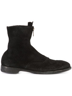 front zip army boots Guidi