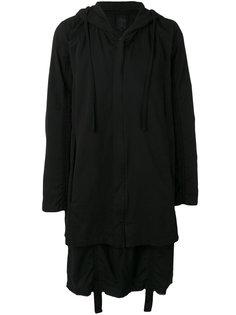 длинное пальто с капюшоном Thom Krom