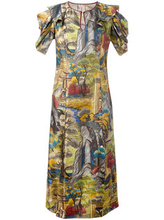 sheer forest print dress Antonio Marras