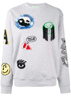 patch embroidered sweatshirt Aries