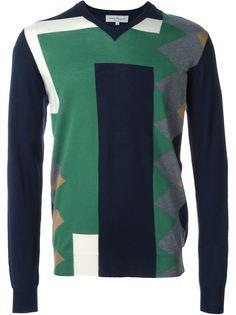 свитер дизайна колор-блок Salvatore Ferragamo