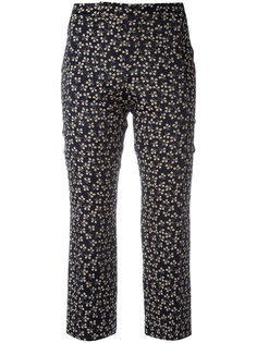 printed cropped trousers  Ganni