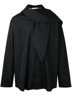 scarf detail shirt Aganovich