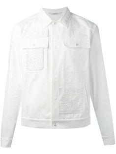 джинсовая куртка с вышитой отделкой Valentino