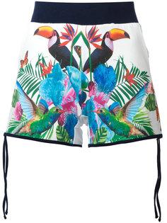tropical print shorts Ea7 Emporio Armani
