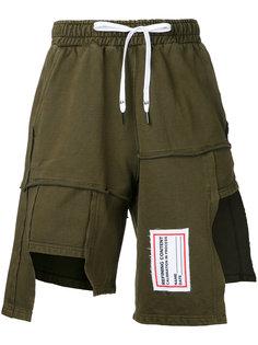 шорты с простроченными панелями Liam Hodges