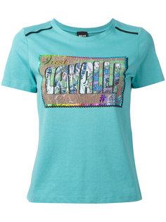 футболка с радужным логотипом Just Cavalli