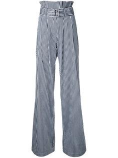 брюки в полоску с завышенной талией N Duo