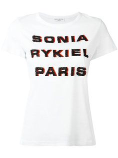 beaded logo T-shirt Sonia Rykiel
