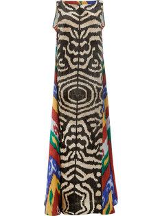 платье макси с принтом зебра Afroditi Hera