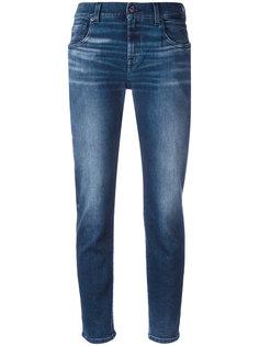 укороченные джинсы с выбеленным эффектом 7 For All Mankind