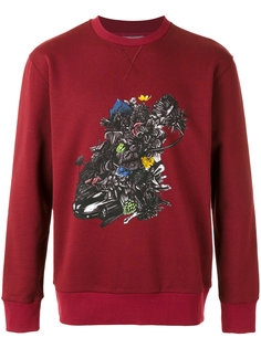 car and flowers sweatshirt Lanvin