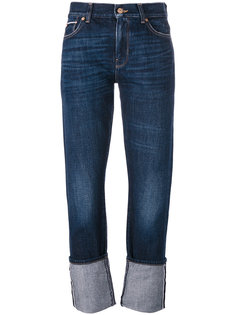 rolled hem jeans 7 For All Mankind