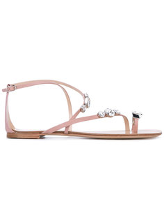 embellished flat sandals Casadei
