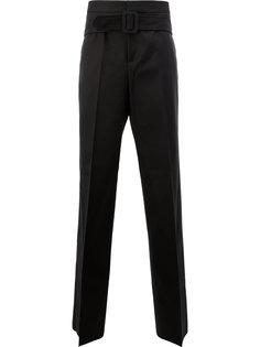 строгие брюки с поясом Yang Li