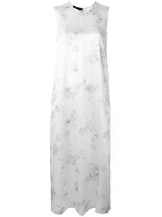 платье шифт с цветочным принтом Calvin Klein Collection