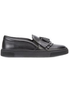 fringed slip-on sneakers  Louis Leeman