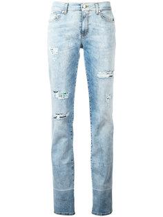 джинсы кроя слим с потертой отделкой Versace Jeans