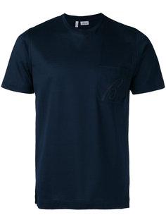 футболка с вышитым логотипом Brioni