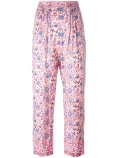 укороченные брюки с цветочным принтом Masscob