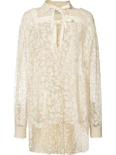 elongated back lace blouse Veronique Branquinho