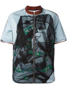 куртка с короткими рукавами и прозрачной вставкой Quetsche