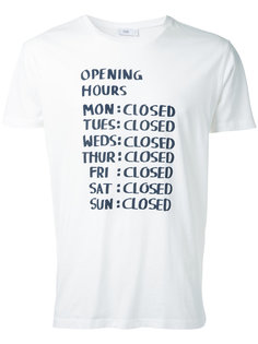 футболка с принтом Closed